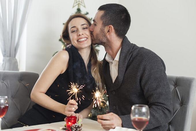 pareja en celebración